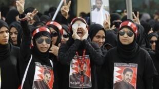 Des manifestantes anti-régime le 20 avril à Budaiya, à l'ouest de Manama la capitale du Bahreïn.