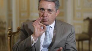 El ex presidente colombiano Álvaro Uribe.