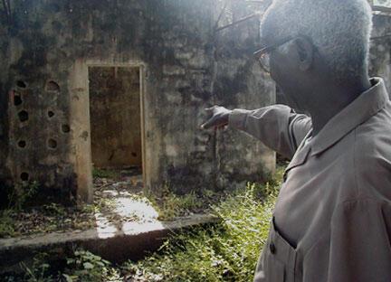 Une cellule du camp Boiro en Guinée.