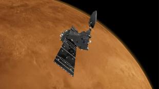 Le satellite TGO de la mission ExoMars 2016 aura pour tâche de « renifler » certains gaz de l'atmosphère martienne pour apporter des éléments de réponse à la question de la vie sur Mars.