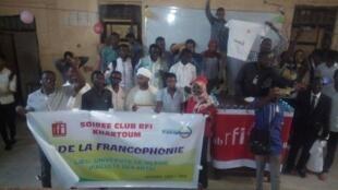 Le Club RFI Khartoum lors de la soirée sur le thème de La francophonie.