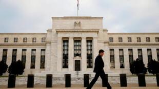 Le siège de la Réserve fédérale, la Banque centrale américaine, à Washington D.C., le 16 décembre 2015 (image d'illustration).