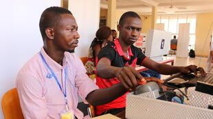 Des étudiants à l'Université de de Kankan en Haute-Guinée, Guinée.