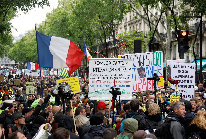 La manifestación del 4 de mayo ha sido la más baja en la historia del movimiento de los chalecos amarillos.