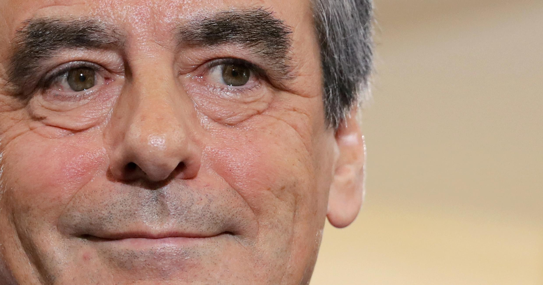 François Fillon, le 27 novembre 2016 à Paris, après l'annonce des premiers résultats.