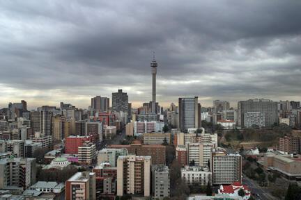 Vue de Johannesburg, en Afrique du Sud.