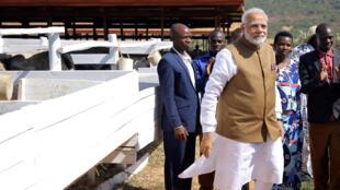 Narendra Modi ici lors de sa visite au Rwanda le 24 juillet 2018.
