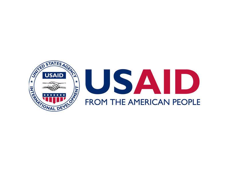 Le logo de l'USAID, l'Agence américaine pour le développement international.