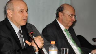 O ministro da Fazenda, Guido Mantega, e o presidente do Banco Central, Henrique Meirelles.