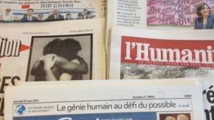 Primeiras páginas dos diários franceses de 26/3/2014