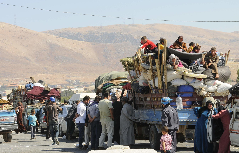 Mutanen Syria da ke kokarin tsallakawa zuwa kasar Lebanon