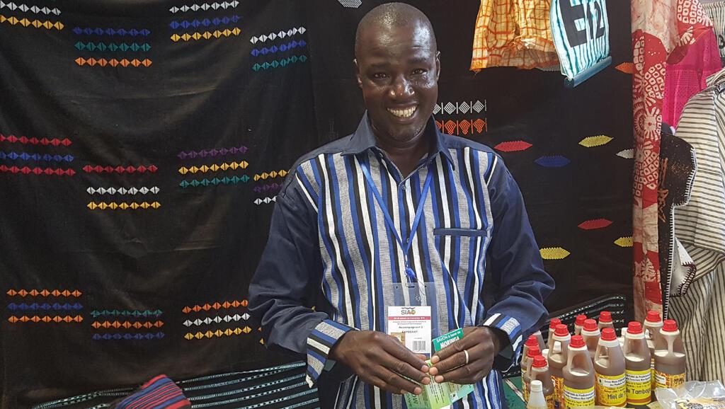 Yonli Nestor, président de l'Union mixte Todiyaba des producteurs pour la valorisation des produits forestiers non ligneux de Tambaga.