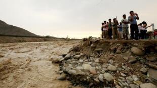 Río Rimac este lunes en Perú