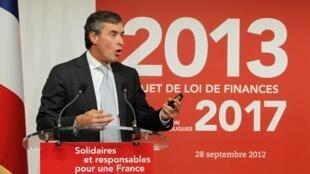 Le ministre français du Budget Jérôme Cahuzac à Bercy. Paris, le 28 septembre 2012.