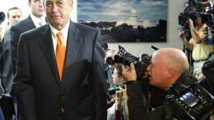 Chủ tịch Hạ viện Hoa Kỳ John Boehner, thuộc đảng Cộng Hòa, tại trụ sở Quốc hội lưỡng viện, Washington, 16/10/2013