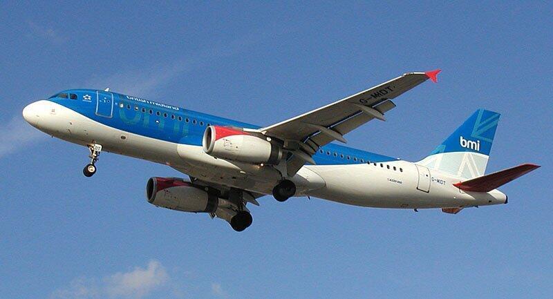 Un Airbus 320 de la compagnie aérienne BMI
