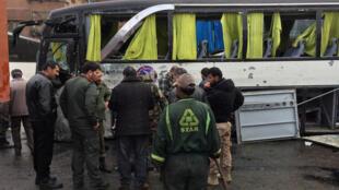 Doble atentado suicida en Damasco este 11 de marzo.