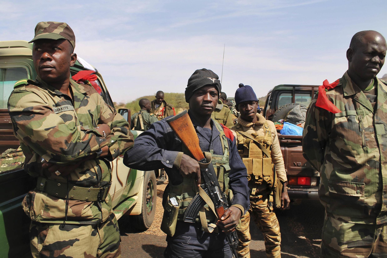 Malian sodiers in Gao last month