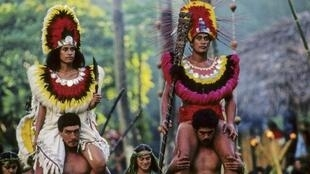 Une cérémonie maori.