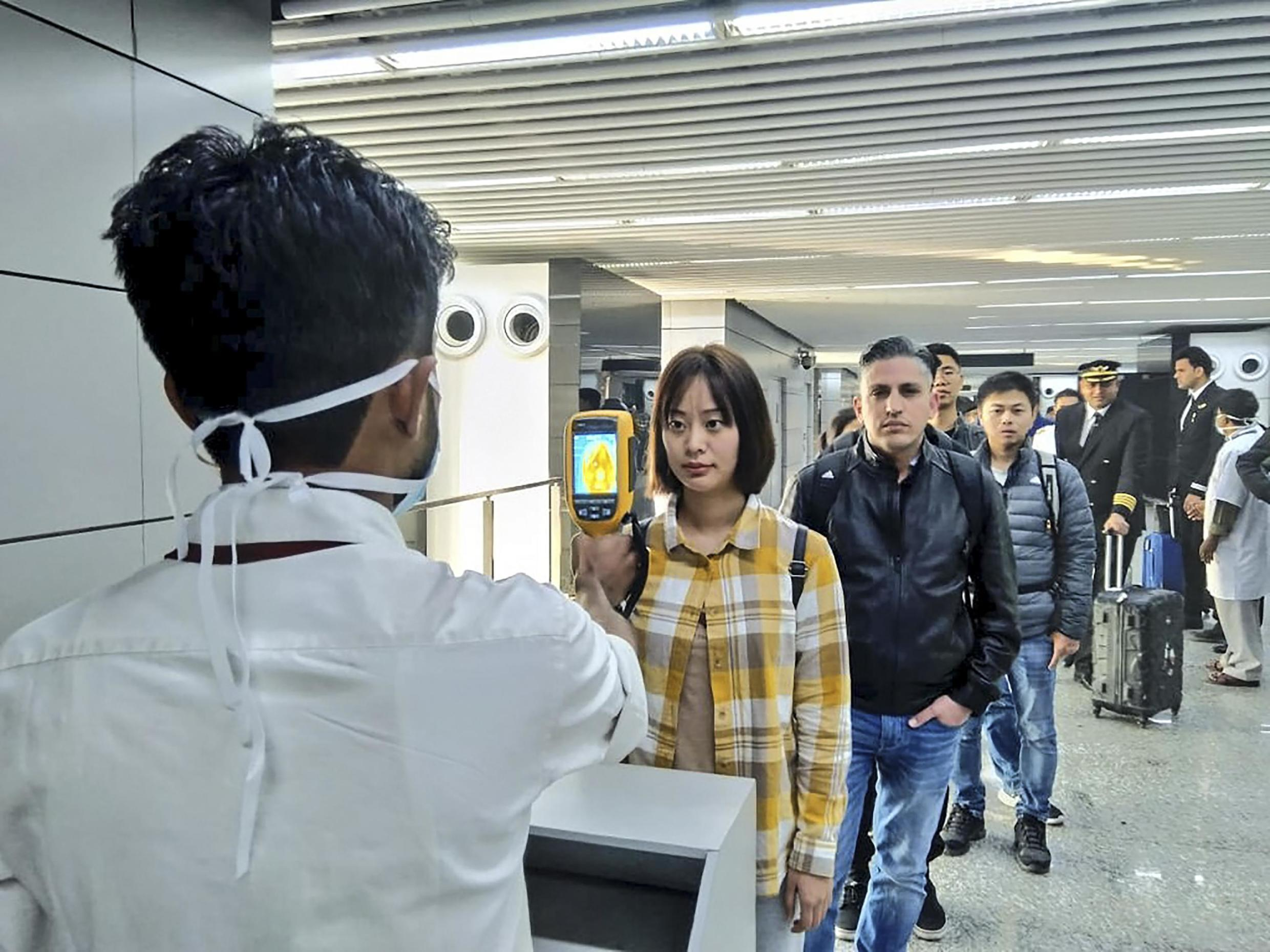Authorities in Calcutta have put temperature scans in place for passengers arriving from Wuhan, China, epicentre of the novel coronavirus, 30 January 2020.
