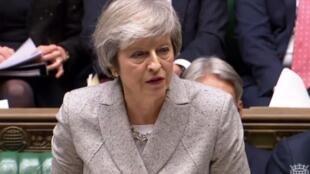 Thủ tướng Anh Theresa May trình bày trước Quốc Hội ngày 22/11/2018.