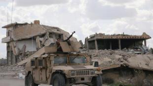 Du califat autoproclamé de l'organisation Etat islamique, il ne reste plus qu'une poche de moins d'un demi-kilomètre carré, à Baghouz, village de la province de Deir Ezzor.