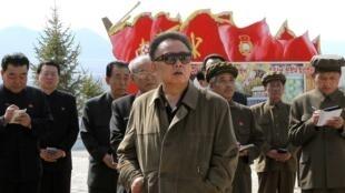 Lãnh đạo Bắc Triều Tiên Kim Jong Il.  Ảnh chụp ngày 23/05/2010