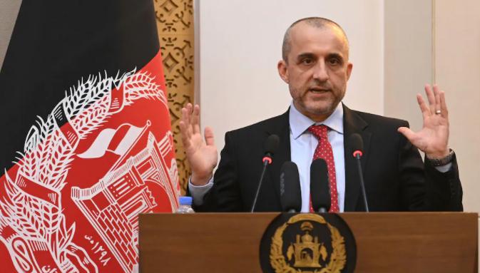 阿富汗第一副總統阿姆魯拉·薩利赫資料圖片