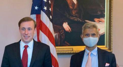 美國國家安全顧問沙利文與印度外交部長蘇傑生資料圖片