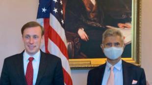 美国国家安全顾问沙利文与印度外交部长苏杰生资料图片
