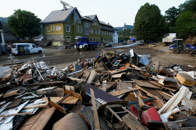 Área afectada por las inundaciones causadas por las intensas lluvias en Schuld, Alemania. 20 de julio, 2021.