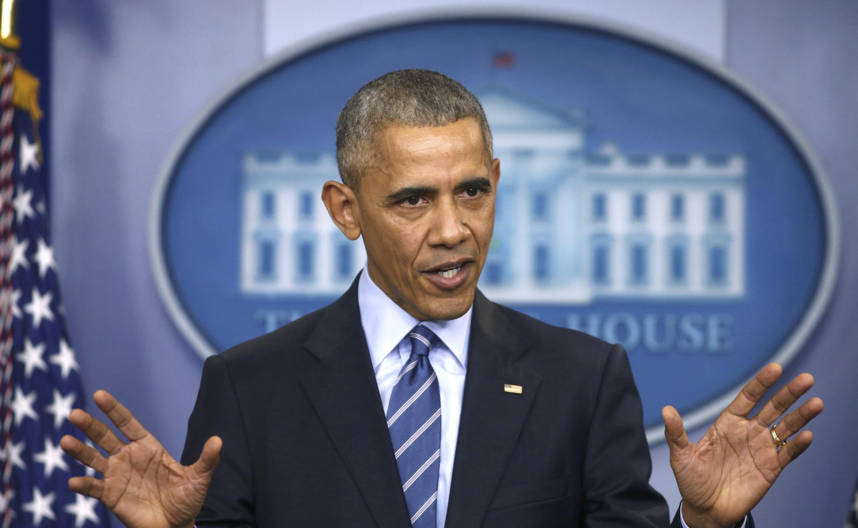 Tổng thống Barack Obama trong cuộc họp báo tại Nhà Trắng, ngày 16/12/2016, nói về vụ tấn công tin học trong chiến dịch vận động tranh cử tổng thống Mỹ