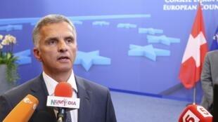 Дидье Буркхальтер в Совете Европы 12/05/2014