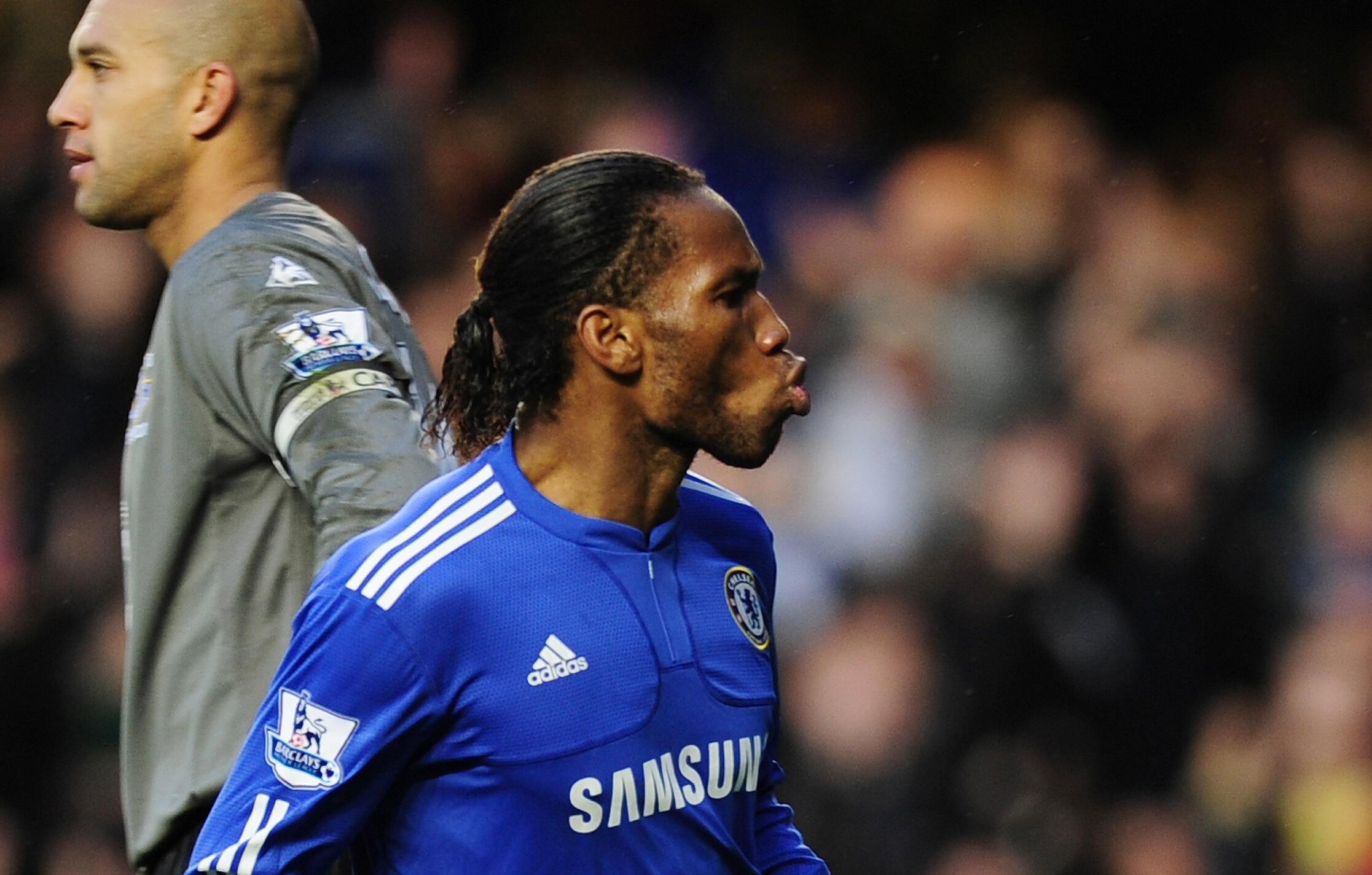 Troisième doublé de la saison pour Didier Drogba avec Chelsea.