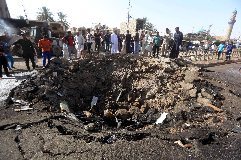 Место трагедии. Рынок города Бани-Саад 18 июля 2015 года.