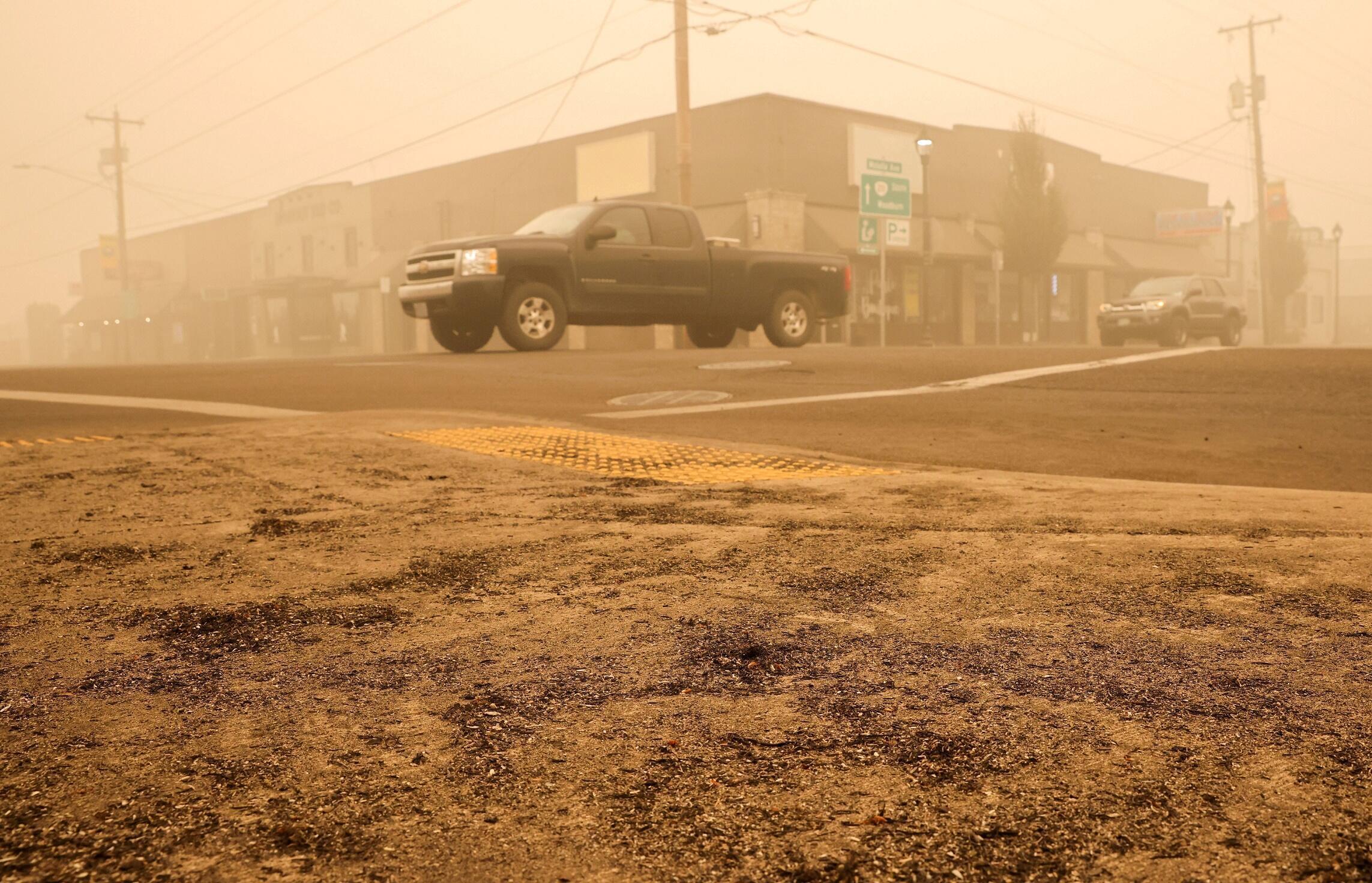 Évacuations dans la ville de Molalla, dans l'Oregon, le 11 septembre.