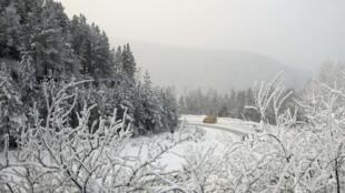 Massa de ar vinda da Sibéria é responsável pelas temperaturas geladas.