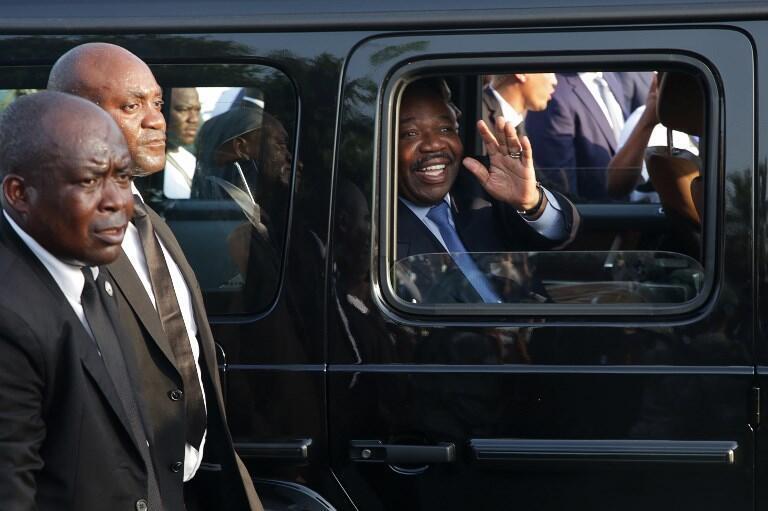 Le président gabonais Ali Bongo lors de son retour à Libreville le 23 mars 2019.