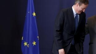 Thủ tướng Anh David Cameron tại hội nghị thượng đỉnh châu Âu ở Bruxelles, Bỉ ngày 17/12/2015.