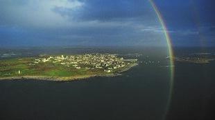 Vue aérienne de l'île de Molène.