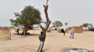 Un camp de déplacés près de Diffa au Niger.
