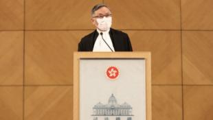 香港終審法院首席法官張舉能資料圖片