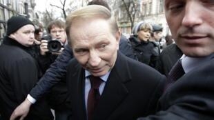 L'ancien président Leonid Koutchma à son arrivée au bureau du procureur général à Kiev, le 24 mars 2011