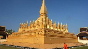 Pha That Luong, công trình Phật giáo được coi là một biểu tượng của nước Lào.