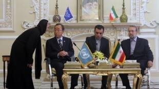 Le secrétaire général des Nations unies Ban Ki-moon au sommet des non-alignés à Téhéran, mercredi 29 août.