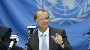 Martin Kobler, chef de la Monusco, le 28 août 2013 à Kinshasa.