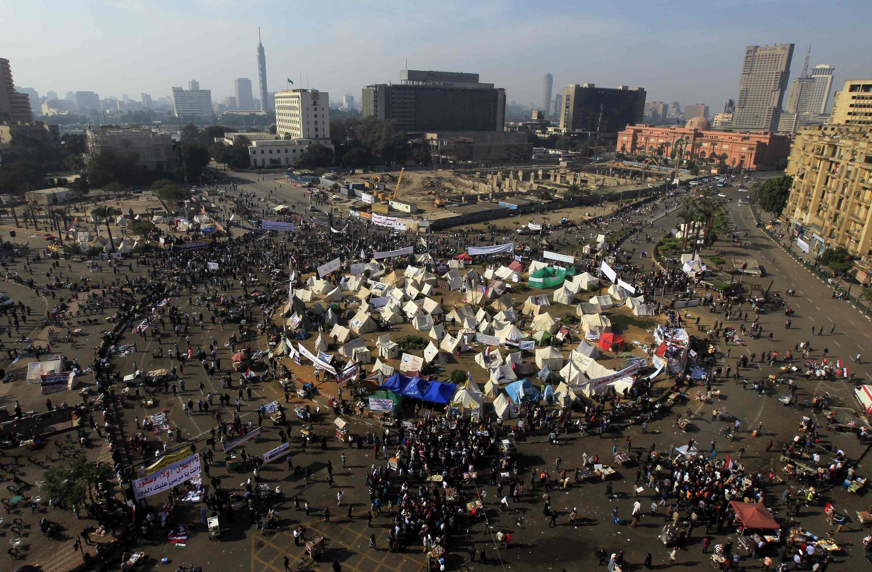 Biểu tình chống Tổng thống Mursi trên Quảng trường Tahrir, Cairo, Ai Cập, 30/11/2012