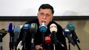 Shugaban gwamnatin hadin kan Libya, Fayez el-Sarraj.