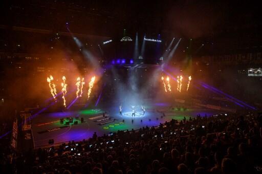 Cerimônia de abertura do Campeonato Mundial de Handebol Masculino IHF de 2019 no Mercedes-Benz Arena, em Berlim, 10 de janeiro de 2019.