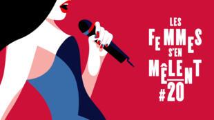 Cartaz da vigésima edição do festival Les Femmes S'en Mêlent.